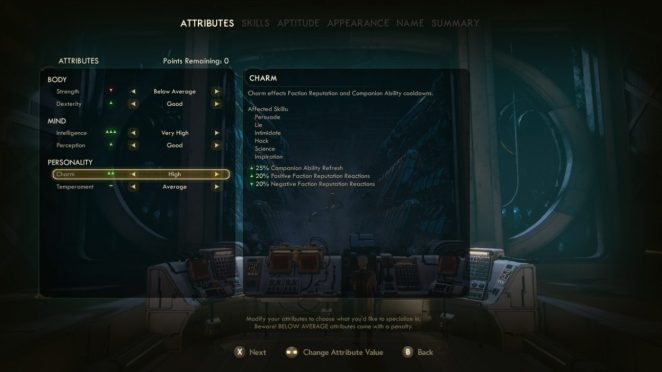 The Outer Worlds Character Creation Skills