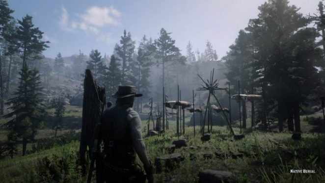 Coming across an Indian reserve in Red Dead Redemption 2