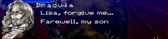 "A dying Dracula says, ""Lisa, forgive me... Farewell, my son."""