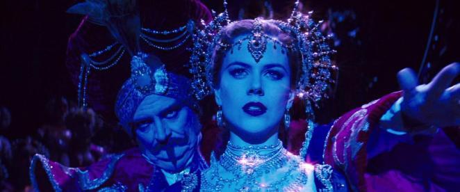 Satine (Nicole Kidman) sings while Harold Zigler (John Broadbent) watches in Moulin Rouge.