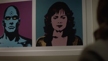 Pop Art print of Dr Manhattan and Silk Spectre II