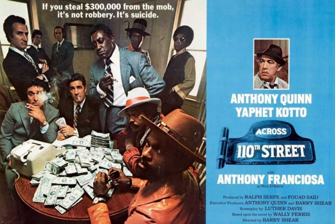 The Picture Shows The Cast Of Across 110th Street Sat Around A Table Stacked High With Cash From Their Illegal Enterprises