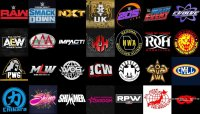 A selection of various wrestling promotion logos