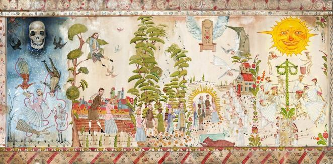 The mural at the start of Midsommar tells the whole story