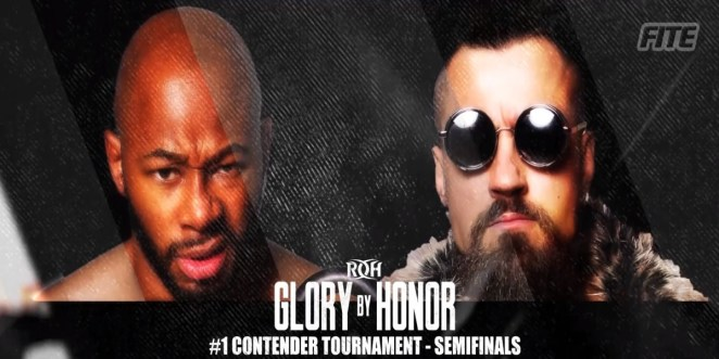 The Graphic Shows Jay Lethal And Marty Scurll In The First Semi Final Of The ROH #1 Contenders Tournament