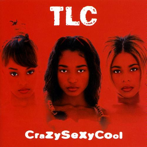 a saturated red image shows the heads of the three women of TLC next to each other. TLC is above them in white text, the album name below also in white text.