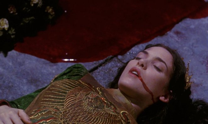 Elisabeta (Winona Ryder) lies in a pool of blood in Bram Stoker's Dracula.