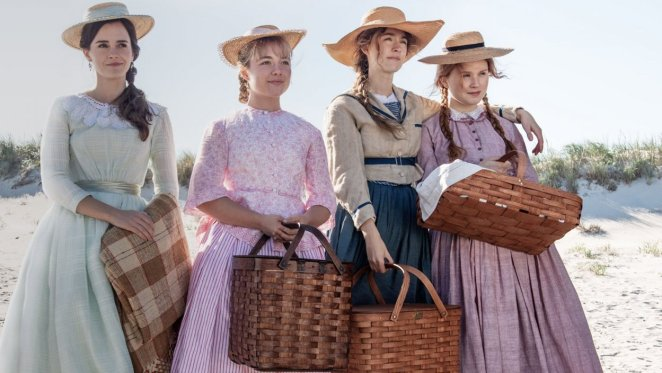 """""""Little Women"""" heroines stand on the beach"""