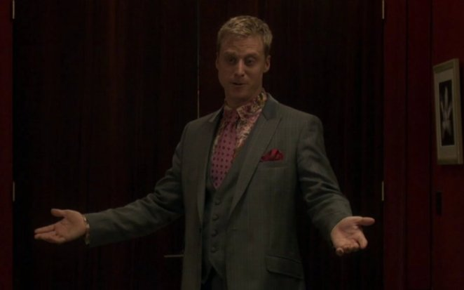 Alpha, showing off his fancy 3-piece suit
