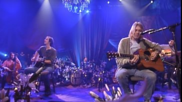 Nirvana performing on MTV unplugged