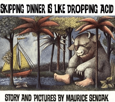 Reader Submission: Title and Redesign by the near-doctor John Molina. Maurice Sendak: Where the Wild Things Are
