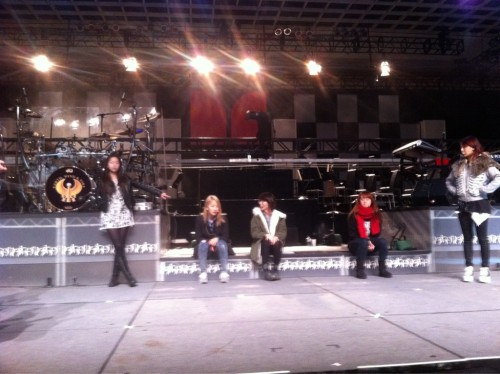 """Soundcheck for tomorrow's performance at """"Monster Retailer Awards & Concert"""""""