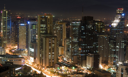 City lights in Ortigas