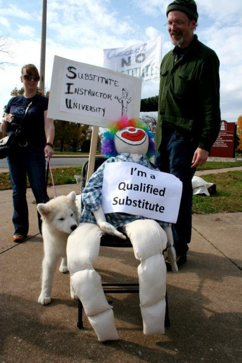substitute instructor: a life-size doll