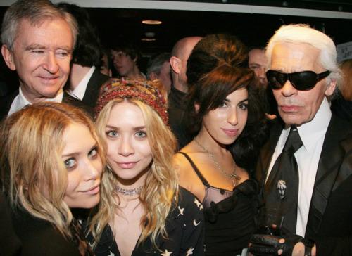 Bernard Arnault, the Olsen twins, Amy Winehouse and Karl Lagerfeld