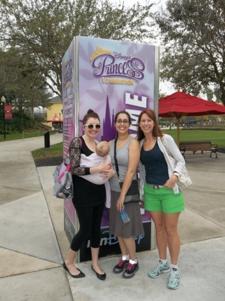 Princess half expo - Shaina, S-baby, Me and Brooke