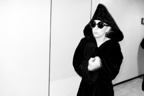 Lady Gaga after the show.