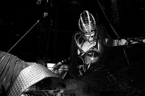 Lady Gaga getting ready to go on #3