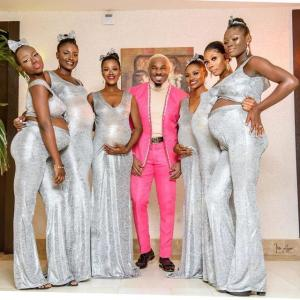 Popular Businessman Attends William Uchemba's Wedding With 6 Pregnant Women.