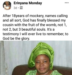 Nigerian Woman Gave Birth To Triplet After 18 Years