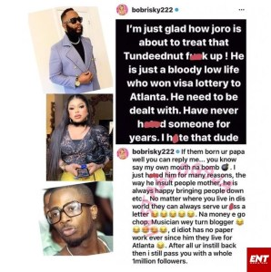 Bobrisky Wades Into The Ongoing Fight Between Bloggers,Joro Olumofin And Tunde Ednut