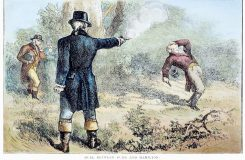 Image result for Aaron Burr is arrested for treason  painting