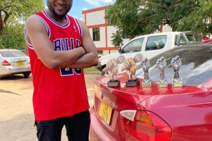 Phyzo with his trophies