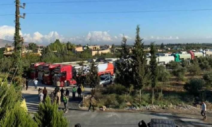 وصول صهاريج الديزل الى لبنان عبر سوريا