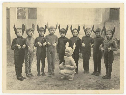 My Hitler Youth. lazybirds:  suddenly:  Kids these days. Disaffected youth of Today's World. Some call them rabbit children. We know they are devils. (via mymilkglassheart)
