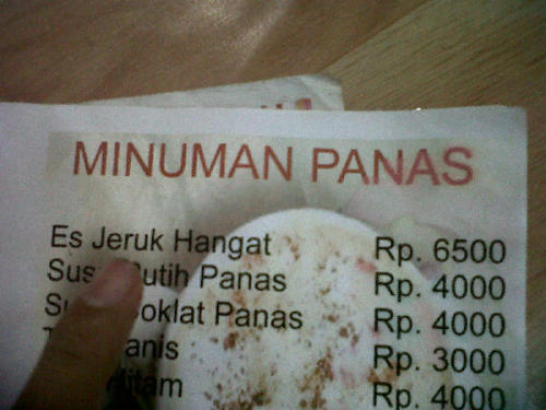 Es Jeruk Hangat (via @robyakbar) - submitted by @hielmy