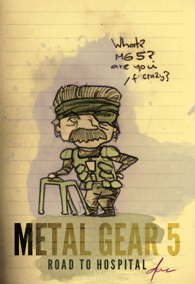 spécial @salomettte !  via gamefreaksnz:    imdavidcelis:    Random Pic #226  new sketch! but he can barely breath! #metalgear @gamefreaksnz