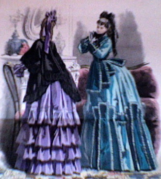 Victorian fashion (for the privilieged) 1870.