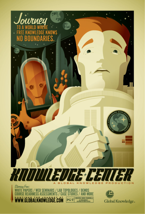 sci-fi themed poster created as part of promotional series for Global Knowledge.