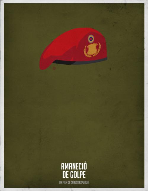 Amaneció de golpe - Minimal Movie Poster #cinevenezolano