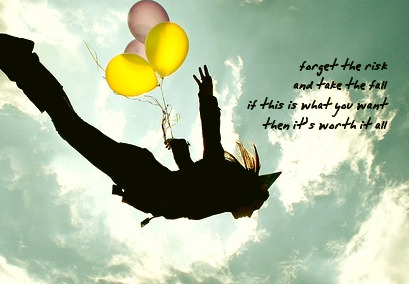 sometimes when you fall, you fly~