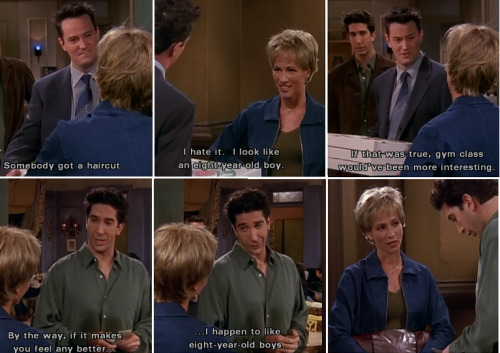 Ross vs Chandler: Flirting