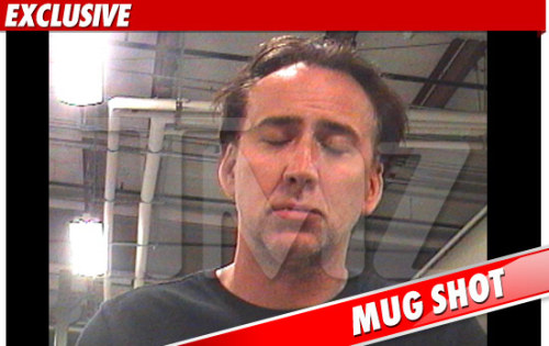"Celeb Arrest of the Day: Oscar-winning actor Nicolas Cage (yeah, he totally won an oscar once) was arrested in New Orleans on charges of domestic abuse and disturbing the peace following a loud argument with his wife Alice in the street, though she was apparently not the complaining witness and no physical contact took place. TMZ reports that Cage was ""very drunk"" and allegedly ""taunted police into arresting him"" by yelling ""Why don't you just arrest me?"" He was released this morning after posting bond. [tmz / thr.]"