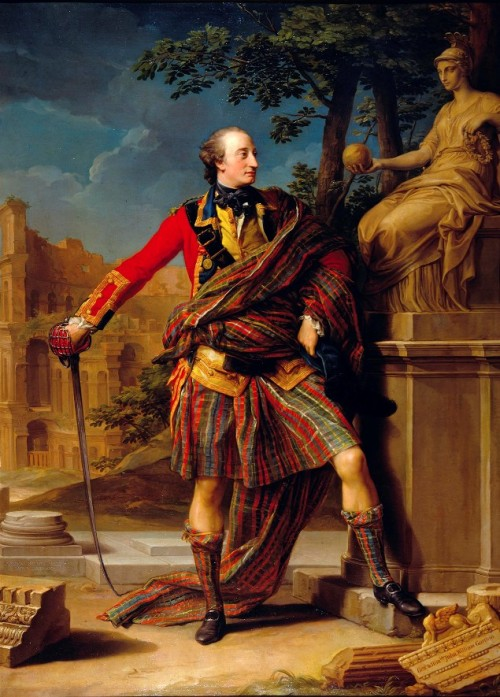 "monsieurleprince:  Pompeo Batoni - Colonel the Hon. William Gordon, 1765 It's XVIII century fashion plus Scottish pride. Oh, yeah.  A Gordon,a Gordon, a Gordon BYDAND! (Ps.Bydand = Scots for ""Abide"", motto / warcry of Clan Gordon)"