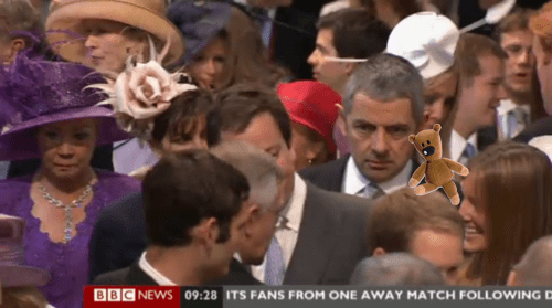 Mr. Bean at the Royal Wedding