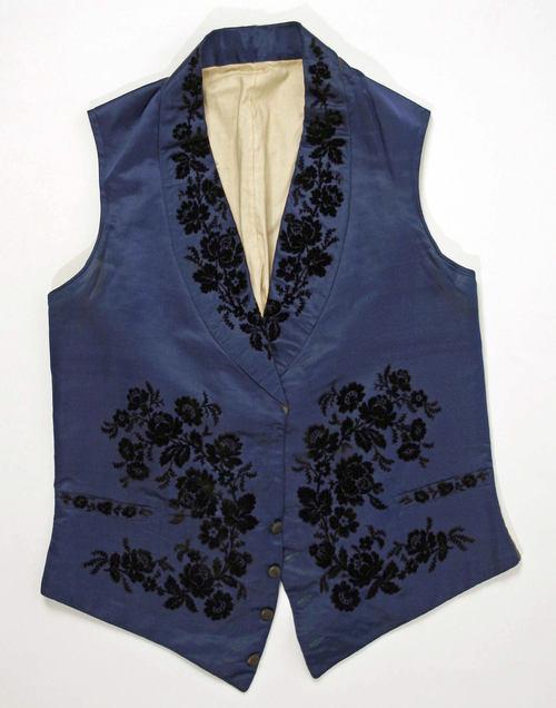 Vest ca. 1840 via The Costume Institute of the Metropolitan Museum of Art