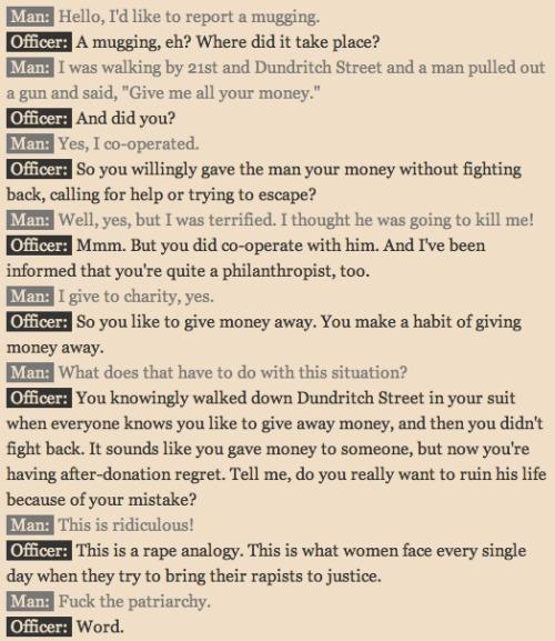 A Rape Analogy