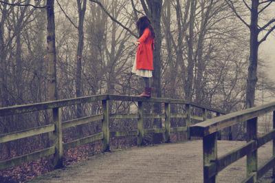 Girl in the red coat