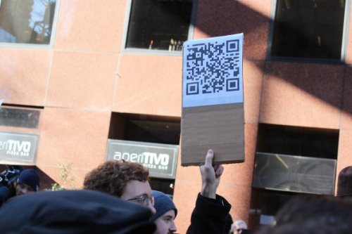 We're sending a message to the 1%… of smartphone users that scan QR codes!