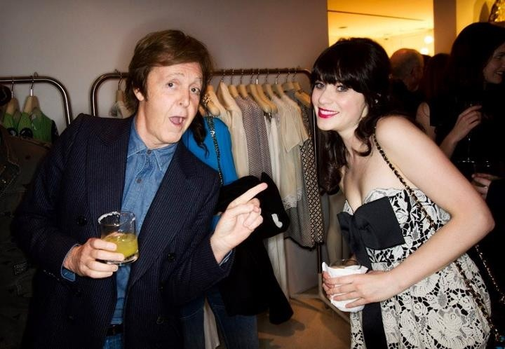Paul McCartney and Zooey Deschanel