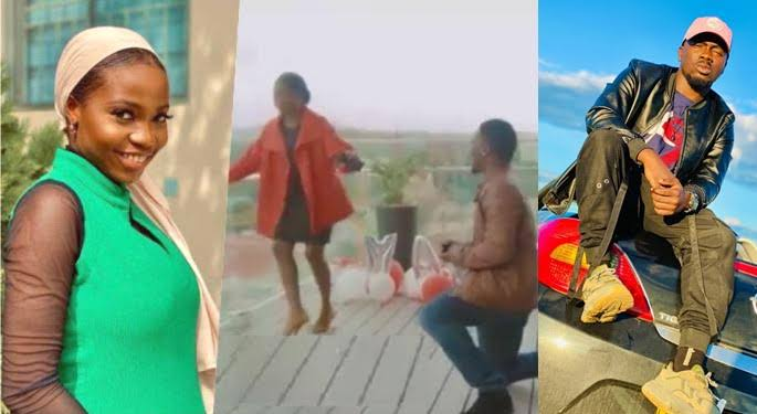 Sweet Moment Taooma's Boyfriend Proposed to Her In Namibia (VIDEO)