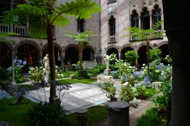 The courtyard inside the museum