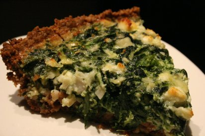 goat cheese & spinach tart