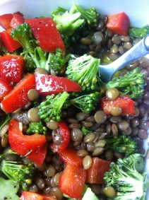 lentils and veggies