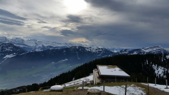 The restaurant with the Rigi in background