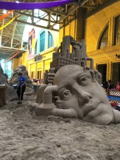 Sand sculptures at the Ex